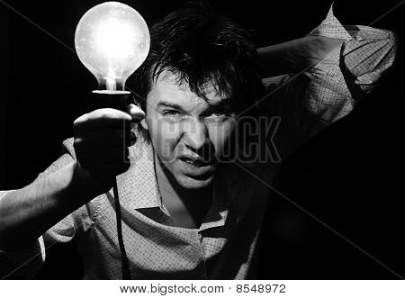 Man With Lamp.