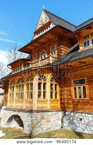 Front Facade Of Villa Oksza, Zakopane