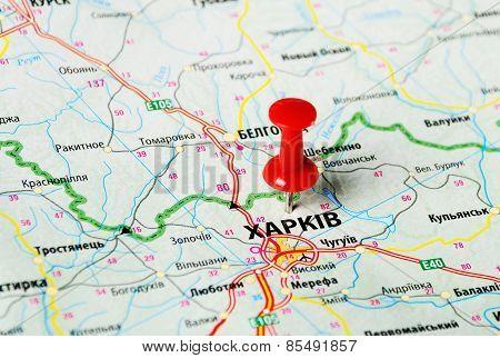 Charkov ,ukraine Map