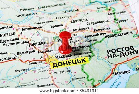 Donetsk ,ukraine Rusia Map