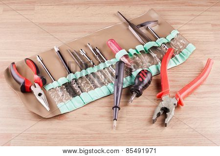 Set Of Various Tools For Repair Work On The House