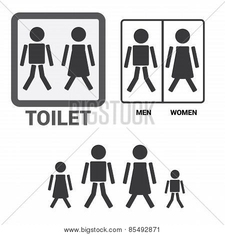 Vector Man and Woman restroom sign