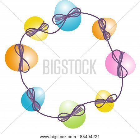 Circular Easter Egg Frame