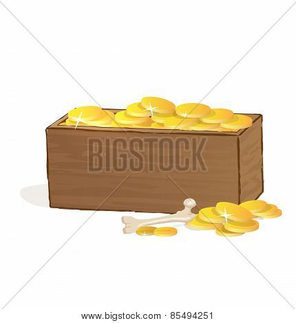 Wooden Treasure Chest.