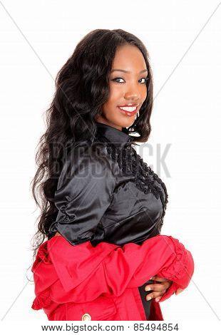 Portrait Of Lovely Black Girl.
