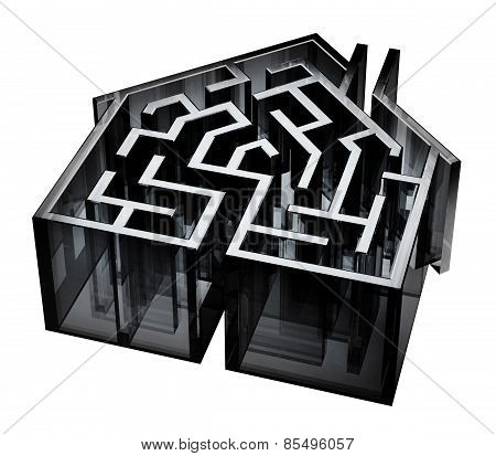 Black Glass House Maze