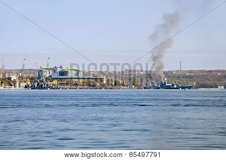 Parking Of Russian Warships In Sevastopol