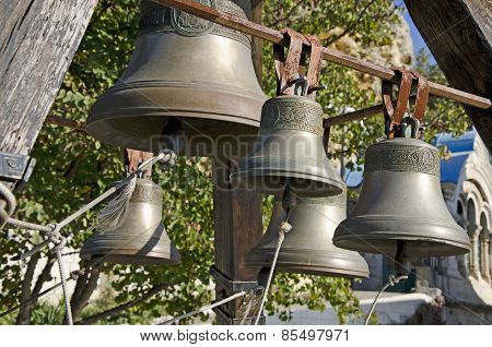 Bells In St. George Monastery In Sevastopol