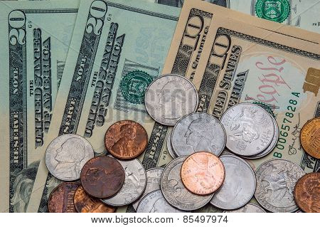 United States Dollars and Coins