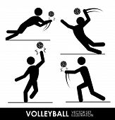 foto of volleyball  - volleyball design over white background vector illustration - JPG