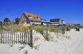 picture of beach-house  - Pretty beach scene with dunes - JPG