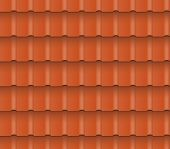 stock photo of roofs  - Metal or clay roof tiles for roofing houses - JPG
