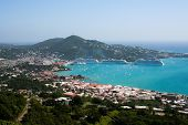 stock photo of paysage  - view from the top of the mountain to the Mediterranean Sea and the coast - JPG