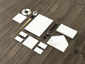stock photo of letterhead  - Template business for branding - JPG