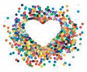 picture of confetti  - Vector heart shaped confetti falling down - JPG