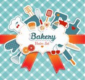 stock photo of cake-mixer  - Bakery illustration - JPG