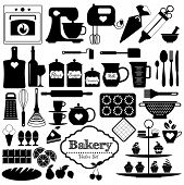 image of cake-mixer  - Bakery icons set - JPG