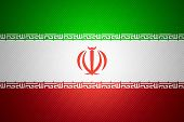 picture of iranian  - Iran flag or Iranian banner on abstract texture - JPG