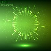 image of explosion  - Green glowing explosion - JPG