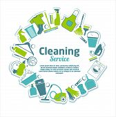 picture of house cleaning  - Clean set background - JPG