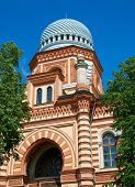image of synagogue  - Beautiful synagogue in the center of Saint Petersburg - JPG