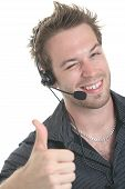 pic of receptionist  - A business receptionist men of 30 years old - JPG