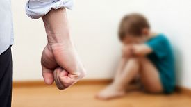 pic of punish  - Family violence and aggression concept  - JPG