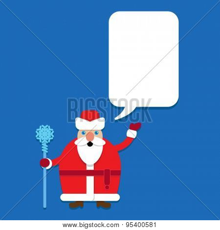 Russian Santa Claus. Grandfather Frost with Talking Bubble