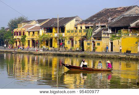 Hoian ancient town near Hoai river