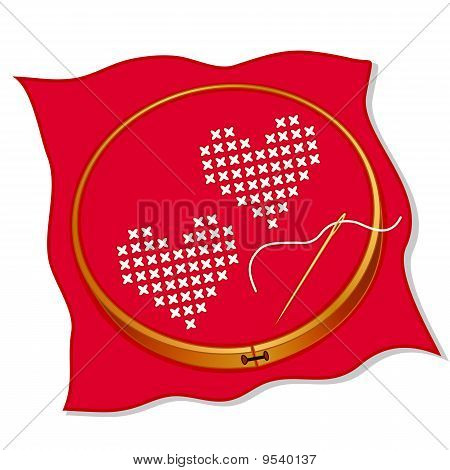 Two Hearts Cross Stitch