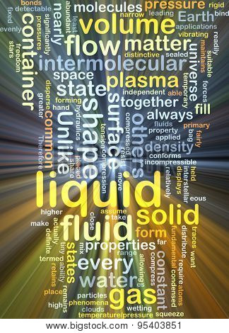 Background concept wordcloud illustration of liquid glowing light