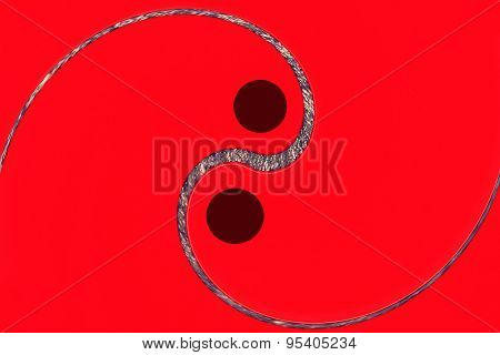 Red Yin Yang Sign