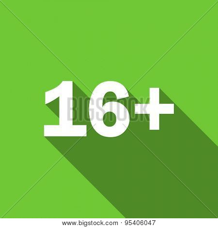 adults flat icon  original modern design green flat icon for web and mobile app with long shadow
