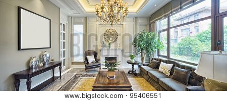 luxury living room interior
