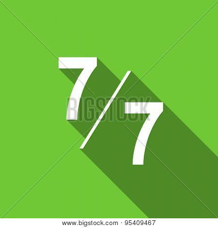 7 per 7 flat icon  original modern design flat icon for web and mobile app with long shadow