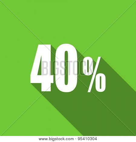 40 percent flat icon sale sign original modern design flat icon for web and mobile app with long shadow