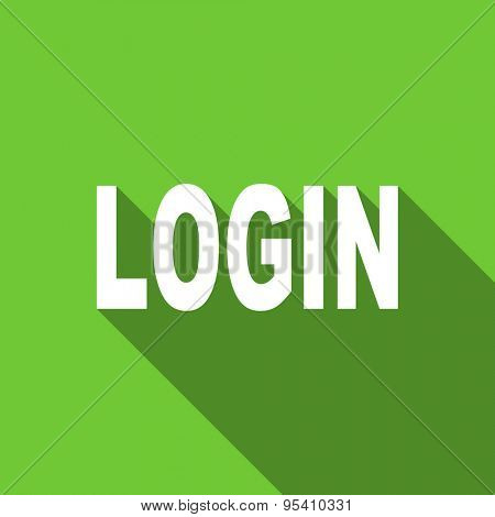 login flat icon  original modern design flat icon for web and mobile app with long shadow