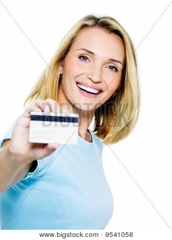 Happy Woman With Credit Card