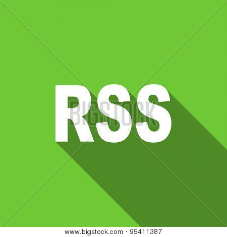 rss flat icon  original modern design flat icon for web and mobile app with long shadow