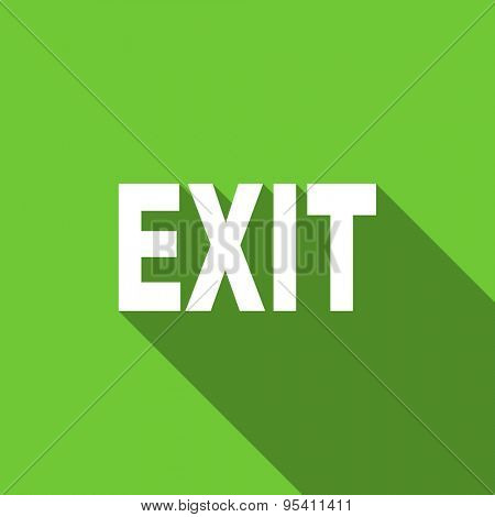 exit flat icon  original modern design flat icon for web and mobile app with long shadow
