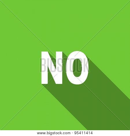 no flat icon  original modern design flat icon for web and mobile app with long shadow