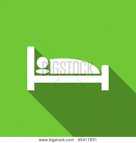 hotel flat icon bed sign original modern design flat icon for web and mobile app with long shadow