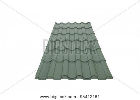Roof tile isolated on the white