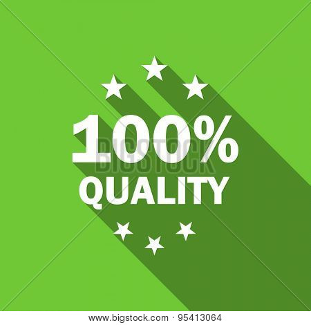quality flat icon  original modern design green flat icon for web and mobile app with long shadow
