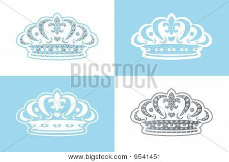 Blue decoration tiara