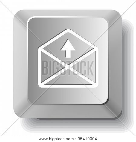 mail up arrow. Vector computer key.