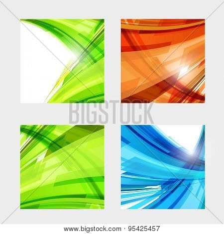 Abstract color light design easy editable