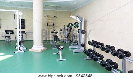 Fitness club gym