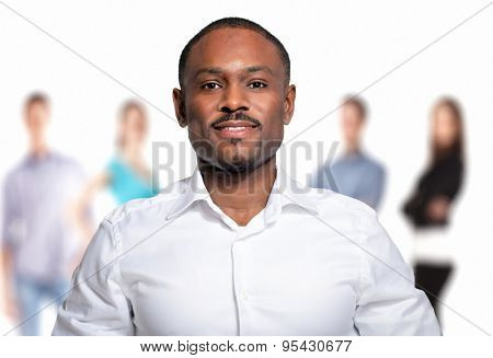 Portrait of an handsome afro-american man