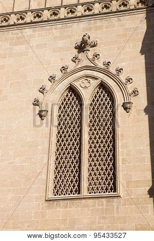 Detail of Mallorca cathedral, in Palma de Mallorca, Spain